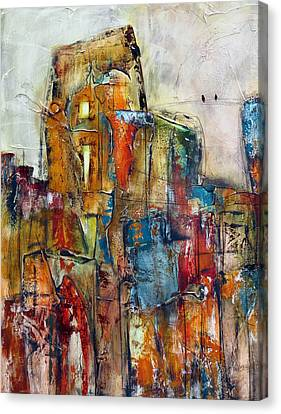 Urban Town Canvas Print by Katie Black