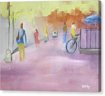Urban Walk Canvas Print