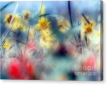 Urban Wildflowers Canvas Print by Michael Hoard