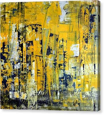 Localities Canvas Print - Urban Yellow by Katie Black