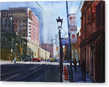 Canvas Print featuring the painting Urban_1 by Helal Uddin