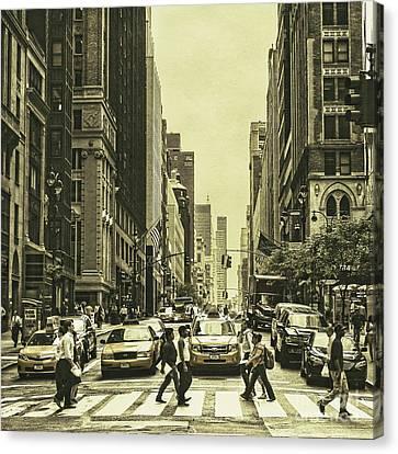 Urbanites Canvas Print by Andrew Paranavitana