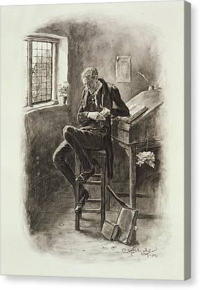 Uriah Heep, From Charles Dickens A Canvas Print by Frederick Barnard