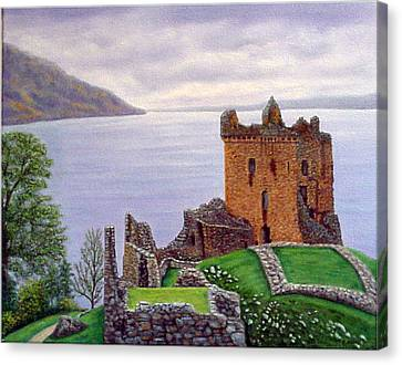 Urquhart Castle Loch Ness Scotland Canvas Print by Fran Brooks