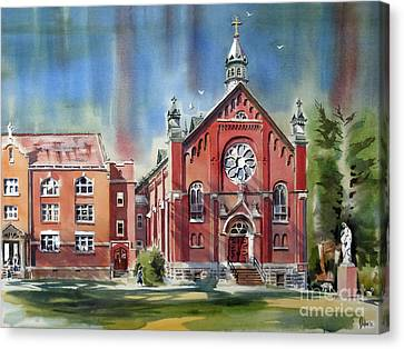 Ursuline Academy With Doves Canvas Print