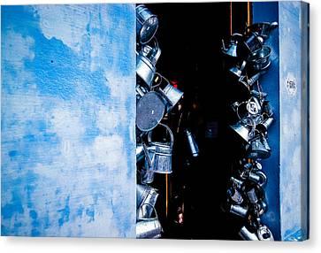 Uruguayan Tin  Canvas Print by Cecil K Brissette