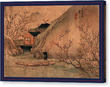 Peaches Canvas Print - Uryo Togen, Peach Orchard At Wuling. Between 1830 And 1844 by Eisen, Keisai (ikeda Yoshinobu) (1790-1848), Japanese