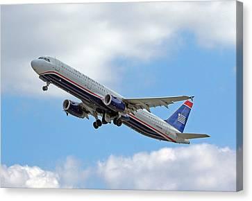 Us Airways Canvas Print by Joseph C Hinson Photography
