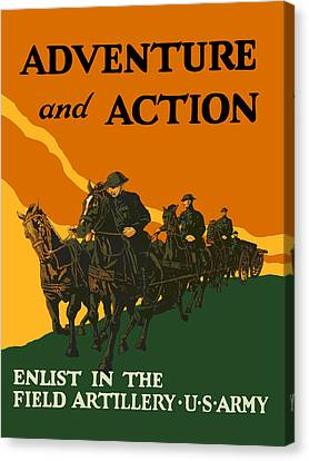 U.s. Army - Action And Adventure Canvas Print by God and Country Prints