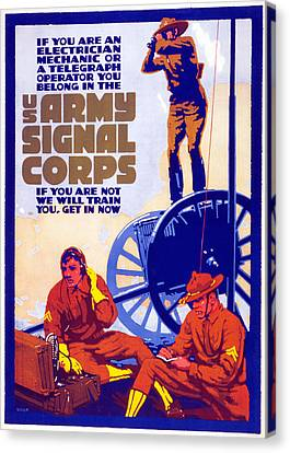 Us Army Signal Corps, 1917-20 Canvas Print by Horace Devitt Welsh