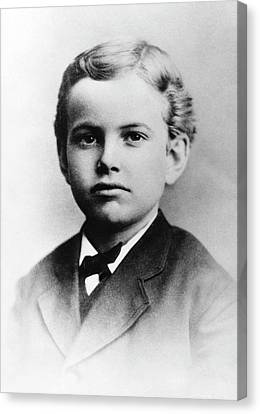 Us Astronomer George Hale As A Boy Canvas Print by Emilio Segre Visual Archives/american Institute Of Physics