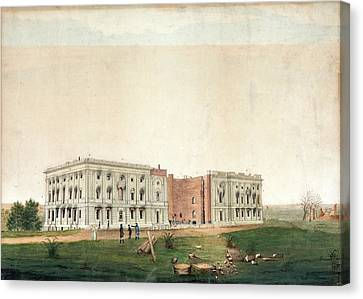 Us Capitol After 1814 Burning Canvas Print