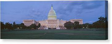 Us Capitol Building At Dusk, Washington Canvas Print by Panoramic Images