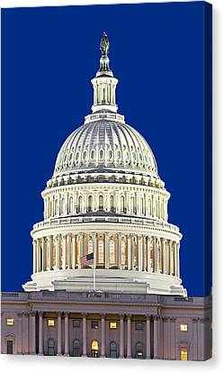Us Capitol Dome Canvas Print by Susan Candelario