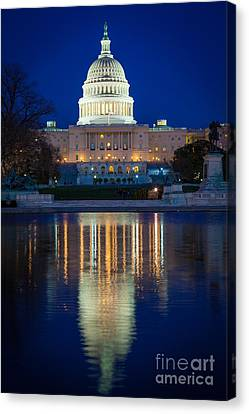 Us Capitol Reflections Canvas Print by Inge Johnsson