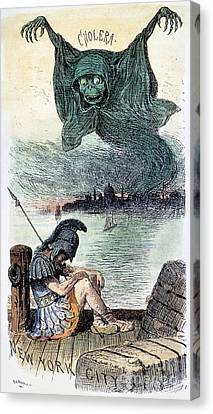 U.s. Cartoon: Cholera, 1883 Canvas Print by Granger