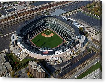 Us Cellular Field Chicago Sports 08 Canvas Print by Thomas Woolworth