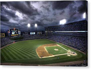 Us Cellular Field Twilight Canvas Print by Shawn Everhart