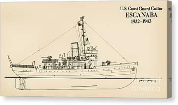 U. S. Coast Guard Cutter Escanaba Canvas Print