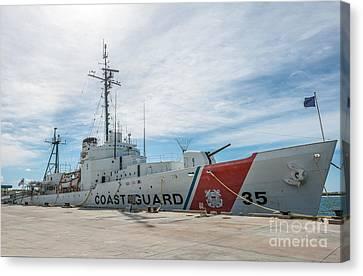Us Coast Guard Cutter Ingham Whec-35 - Key West - Florida Canvas Print by Ian Monk