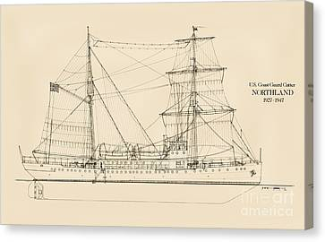 U. S. Coast Guard Cutter Northland Canvas Print by Jerry McElroy - Public Domain Image
