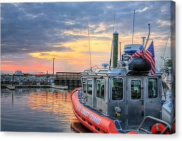Us Coast Guard Defender Class Boat Canvas Print by JC Findley