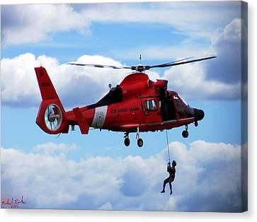 U S Coast Guard - Detroit  Canvas Print by Michael Rucker
