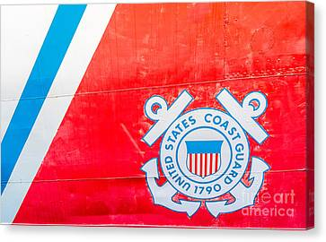 Us Coast Guard Emblem - Uscgc Ingham Whec-35 - Key West - Florida Canvas Print by Ian Monk