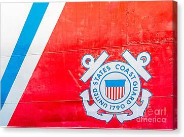 Us Coast Guard Emblem - Uscgc Ingham Whec-35 - Key West - Florida Canvas Print by Ian Monk