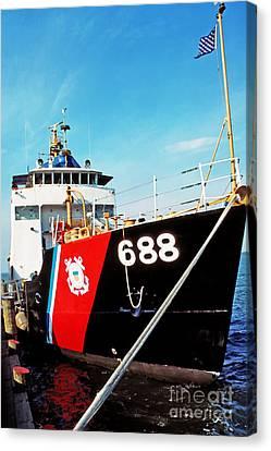 Us Coast Guard Ship Canvas Print by Thomas R Fletcher