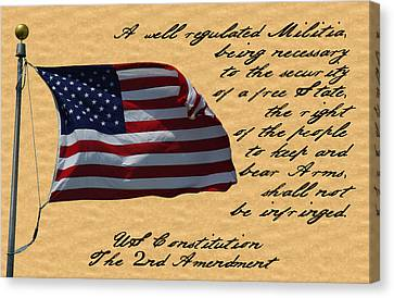 Us Constitution 2nd Amendment Flag Canvas Print by Robyn Stacey