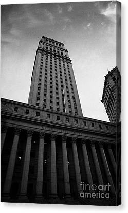 Us  Courthouse Civic Center Centre Street Foley Square New York Canvas Print by Joe Fox