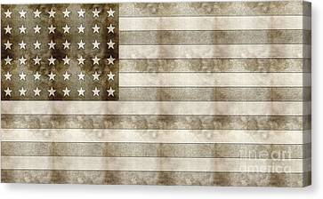 Us Flag Sketch Canvas Print by Celestial Images