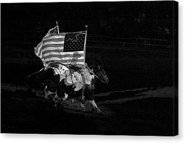 Canvas Print featuring the photograph U.s. Flag Western by Ron White