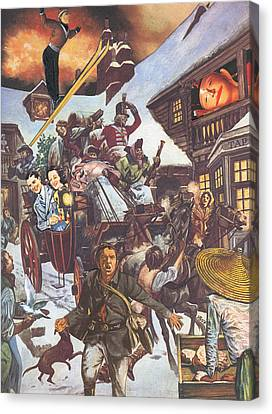 U.s. Invasion Canvas Print by Jonathon Prestidge