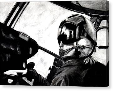 U.s. Marines Helicopter Pilot Canvas Print