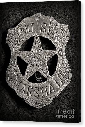 Us Marshal - Law Enforcement - Badge - Cowboy Canvas Print by Paul Ward