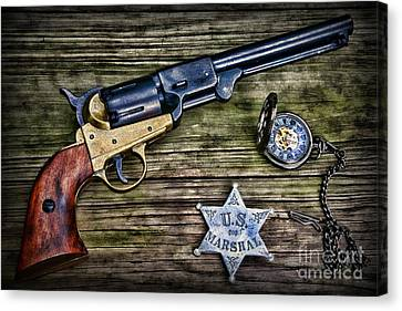 Law Enforcement Canvas Print - Us Marshall - American Justice - Cowboy by Paul Ward