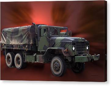 Us Military Truck Canvas Print by Thomas Woolworth