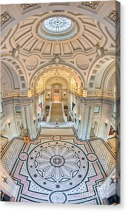 Memorial Hall Canvas Print - Us Naval Academy Bancroft Hall IIi by Clarence Holmes