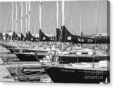 Us Navy 44 Sail Training Craft II Canvas Print by Clarence Holmes
