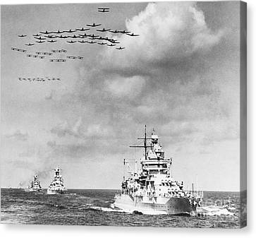Us Navy And Aeroplanes, World War II Canvas Print