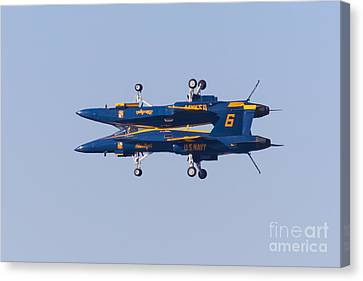 Us Navy Blue Angels F18 Supersonic Jets 5d29625 Canvas Print