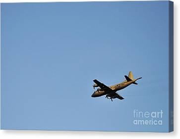 Us Navy Military Airplane Canvas Print by Sami Sarkis