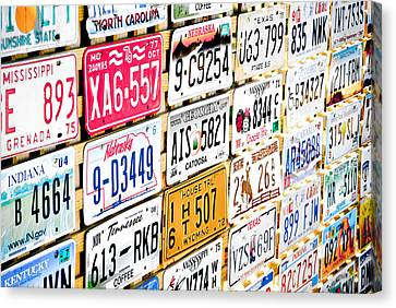 Us Plates Canvas Print by Phil 'motography' Clark