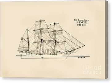 U. S. Revenue Cutter Spencer Canvas Print by Jerry McElroy - Public Domain Image
