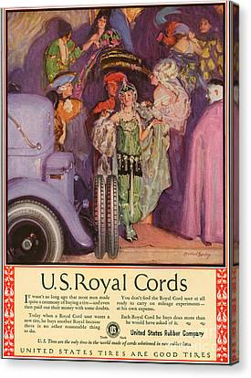 Us Royal Cords 1924 1920s Usa Cc Cars Canvas Print by The Advertising Archives