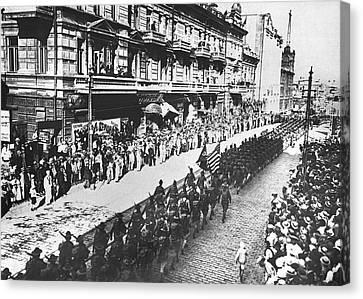 Vladivostok Canvas Print - Us Troops In Vladivostok by Underwood Archives