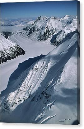 Usa, Alaska, Peters Glacier, Aerial Canvas Print