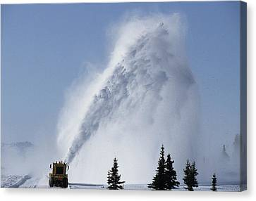 Usa, Alaska, Snow Plow, Denali Park Canvas Print by Gerry Reynolds